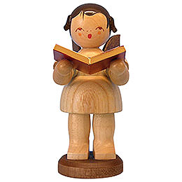 Angel with Book - Natural Colors - Standing - 9,5 cm / 3,7 inch