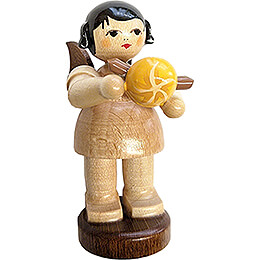 Angel with Bratwurst Roll - Natural Colors - 6 cm / 2.4 inch