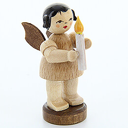 Angel with Candle - Natural Colors - Standing - 6 cm / 2.4 inch