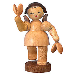 Angel with Castanets - Natural Colors - Standing - 6 cm / 2,3 inch
