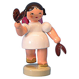 Angel with Castanets - Red Wings - Standing - 6 cm / 2,3 inch