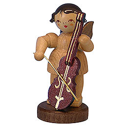 Angel with Cello - Natural Colors - Standing - 6 cm / 2,3 inch