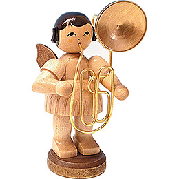 Angel with Contrabass Trombone - Natural Colors - 9,5 cm / 3.7 inch