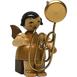 Angel with Contrabass Trombone - Natural - Sitting - 6 cm / 2.4 inch