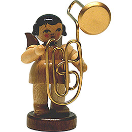 Angel with Contrabass Trombone - Natural - Standing - 6 cm / 2.4 inch
