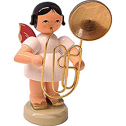 Angel with Contrabass Trombone - Red Wings - 9,5 cm / 3.7 inch