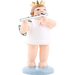 Angel with Crown and German Flute - 6,5 cm / 2.5 inch