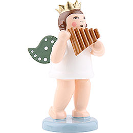 Angel with Crown and Panpipe - 6,5 cm / 2.5 inch