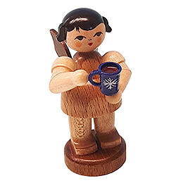 Angel with Cup of Mulled Wine - Natural Colors - Standing - 6 cm / 2.4 inch