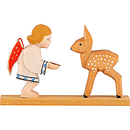 Angel with Deer - 4 cm / 1.6 inch