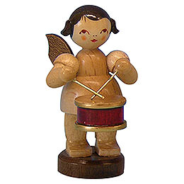 Angel with Drum - Natural Colors - Standing - 6 cm / 2,3 inch