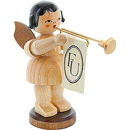 Angel with Fanfare - Natural Colors - 9,5 cm / 3.7 inch