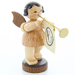 Angel with Fanfare - Natural Colors - Standing - 6 cm / 2.4 inch