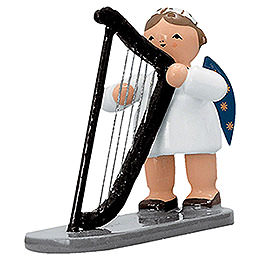 Angel with Harp - 5 cm / 2 inch