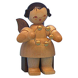 Angel with Jingle Ring - Natural Colors - Sitting - 5 cm / 2 inch
