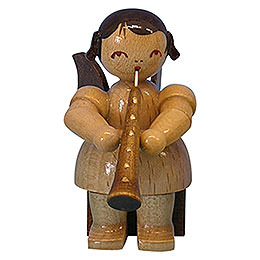 Angel with Oboe - Natural Colors - Sitting - 5 cm / 2 inch