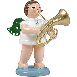 Angel with Tenor Horn - 6,5 cm / 2.5 inch