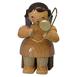Angel with Trombone - Natural Colors - Sitting - 5 cm / 2 inch