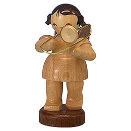 Angel with Trombone - Natural Colors - Standing - 6 cm / 2,3 inch