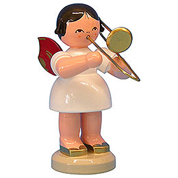 Angel with Trombone - Red Wings - Standing - 9,5 cm / 3,7 inch