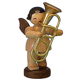 Angel with Tuba - Natural Colors - Standing - 6 cm / 2,3 inch