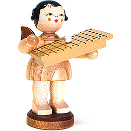 Angel with Xylophone - Natural Colors - 9,5 cm / 3.7 inch