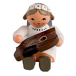 Angel with Zither Sitting - 4 cm / 2 inch