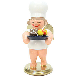 Angels Baker Angel with Christmas Plate - 7,5 cm / 3 inch