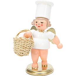 Angels Cooking Angel with Apple Basket - 7,5 cm / 3 inch