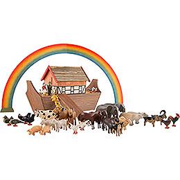 Arche Noah mit 36 Tieren und 2 Figuren - 19,5 cm