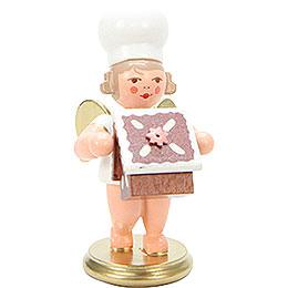Bäckerengel mit Pfefferkuchenhaus - 7,5 cm