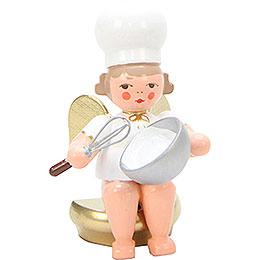 Bäckerengel mit Schneebesen - 7 cm