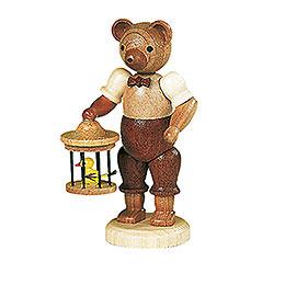 Bär mit Vogelkäfig - 10 cm