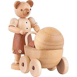 Bärenmutter mit Kinderwagen - 10 cm