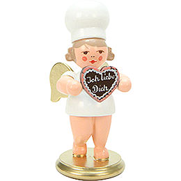 Bäckerengel mit Herz - 7,5 cm