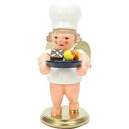 Bäckerengel mit Weihnachtsteller - 7,5 cm