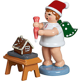 Baker Angel with Hat, Icing Set and Ginger Bread - 6,5 cm / 2.5 inch