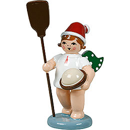Baker Angel with Hat and Kiln Dumper - 6,5 cm / 2.5 inch