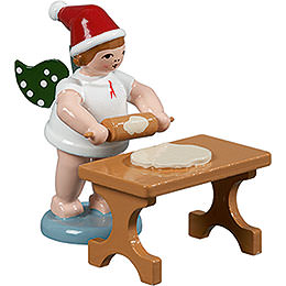 Baker Angel with Hat and Rolling Pin at the Table - 6,5 cm / 2.5 inch