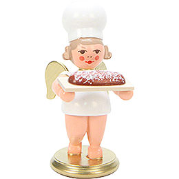 Baker Angel with Stollen Cake - 7,5 cm / 3 inch
