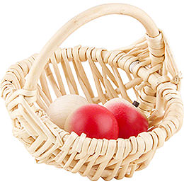 Basket with 3 Apples - 8 cm / 3 inch