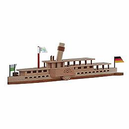 Bastelset Elbdampfschiff 'Dresden' - 24x7 cm