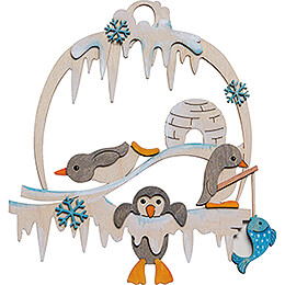 Bastelset Fensterbild Pinguin - 21 cm