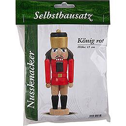 Bastelset Nussknacker König rot - 15 cm