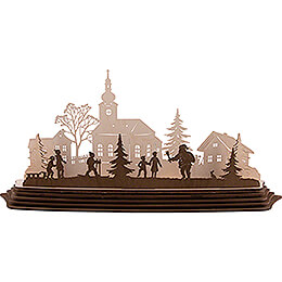 Bastelset Teelichthalter Weihnachtszauber - 57x25,5 cm