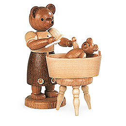 Bear Mother with Child - 10 cm / 4 inch
