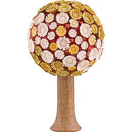 Blütenbaum grün/gelb/weiß/rot - 7,5 cm