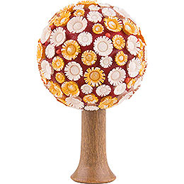 Blütenbaum gelb/weiß/rot - 7,5 cm
