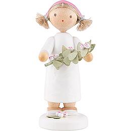 Blumenfee Mädchen mit Apfelblütenzweig - 5 cm