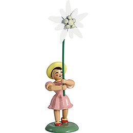 Blumenkind Edelweiss, farbig - 12 cm